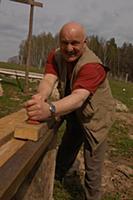 Российский актер Николай Чиндяйкин. Дачная съемка.