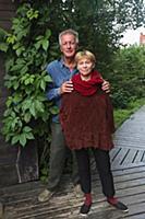 Российский актер Сергей Колесников с супругой Мари