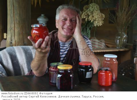 Российский актер Сергей Колесников. Дачная съемка. Таруса, Россия, август 2020.