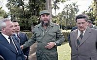 Визит советской делегации к Фиделю Кастро. Куба. 1