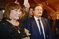 Лариса Лужина, Михаил Брызгалов. Открытие персонал