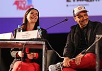 Марина Александрова, Махмуд Солиман. Пресс-конфере