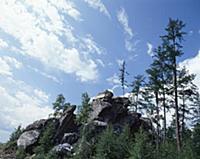 Скалы. В горах Чечни и Ингушетии. СССР. 1980-1981