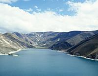 Озеро. В горах Чечни и Ингушетии. СССР. 1980-1981