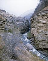 Река. В горах Чечни и Ингушетии. СССР. 1980-1981 г
