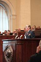 На трибуне Леонид Ильич Брежнев, сессия Верховного