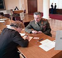 Н.А. Щёлоков проходит регистрацию, Сессия Верховно