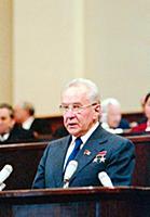 На трибуне А.Н. Косыгин, Сессия Верховного Совета