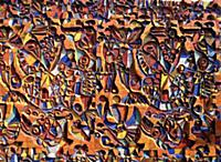 Фрагмент мозаичной композиции на здании. Автор ком