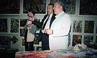 В гостях у Зураба Церетели, в мастерской художника