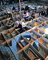 Зураб Церетели. Работа над мозаикой. 1990-е годы (
