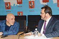 Денис Майданов, Евгений Сафронов. Пресс-конференци