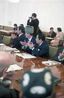 М.А. Эсамбаев и Р.М. оглы Бейбутов . Заседание Сов