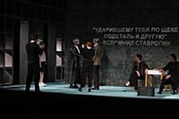 Сцена из спектакля. Спектакль «Бесы Достоевского».