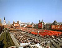 Первомайская демонстрация в Москве, 1977 год.