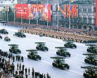 Парад в честь 40-летия Победы в Великой Отечественной войне. Москва, 1985 год.