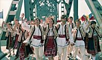 Румыния. Эстафета олимпийского огня в преддверии игр в Москве. 1980 год.
