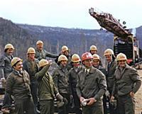 Герои БАМА, И. Варшавский с бригадой. Байкало-Амур
