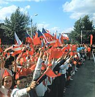 Торжественный митинг по случаю закладки обелиска в