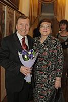 Юрий Чернов с супругой.