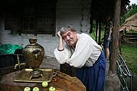 Актер Юрий Стоянов. Съемки фильма «Марево».