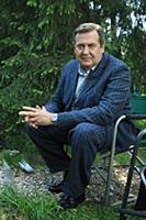 Актер Юрий Стоянов. Съемки сериала «Ласточкино гне