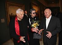 Юрий Любимов с супругой, Михаил Жванецкий.
