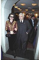 Театральный режиссер Юрий Любимов с супругой.