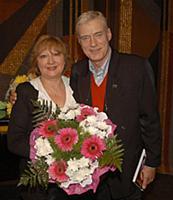 Российский актер Борис Щербаков с женой Татьяной.