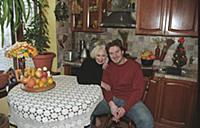 Российская актриса Татьяна Васильева с сыном. Дома