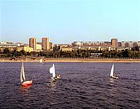 Куйбышев (Самара). Виды города и река Волга. 1985
