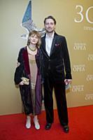 Иван Колесников с супругой. Церемония вручения Нац