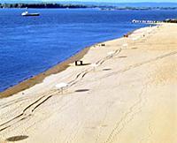 Пляжи на Волге, отдых. Куйбышев (Самара). 1985 год