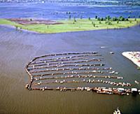 Стоянка для лодок, яхт. Куйбышев (Самара). 1985 го