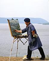 Заслуженный художник РСФСР  В.Пурыгин. Куйбышев (С
