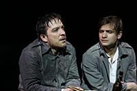 Максим Севриновский (слева). Пресс-показ спектакля