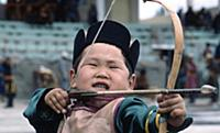 Надом - традиционное монгольское состязание. Улан-Батор. Монголия. 1981 год.