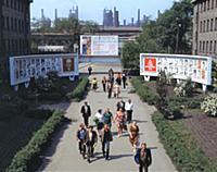 Днепровский металлургический завод, проходная. Дне
