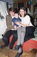Сергей Бугаев с семьей, (1994). Архивные фотографи